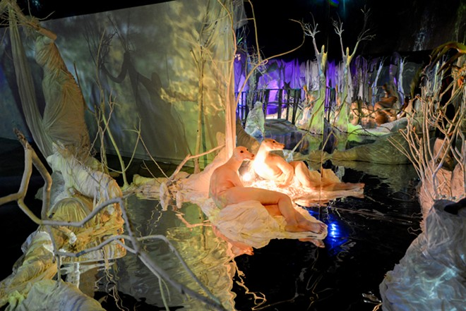 """Photo from """"The Mirror Stage"""" installation by Leah Brown at Valencia"""
