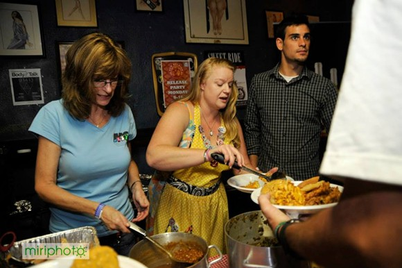 Pawli (center) serving food at the 2013 Benefit for Mustard Seed of Central Florida - MIRIPHOTO