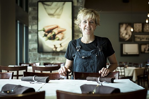 Chef Kathleen Blake at her downtown restaurant, the Rusty Spoon - PHOTO BY ROB BARTLETT