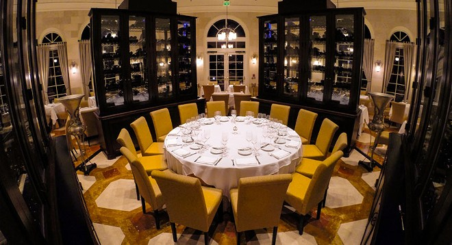Wine is so important at Norman's, they designed the restaurant around their wine cabinets. - PHOTO COURTESY NORMAN'S, RITZ-CARLTON GRANDE LAKES