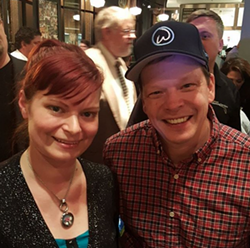Jillycakes owner Jillian Kopke with Wahlburgers owner and chef Paul Wahlberg. - PHOTO COURTESY OF @JILLYCAKESBAKES ON INSTAGRAM