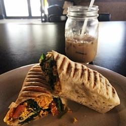 Vegan breakfast burrito at Drunken Monkey Coffee Bar - ORLANDO WEEKLY