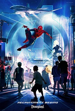A poster for the upcoming Marvel land at Disney California Adventure - CONCEPT ART VIA DISNEY PARKS BLOG