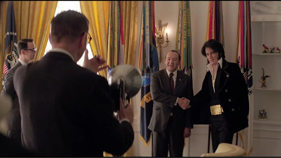 THE PREZ SHAKES HANDS WITH THE KING: HOLLYWOOD VERSION