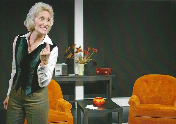 Carol Adams in 'Blonde Poison' at the Orlando Fringe