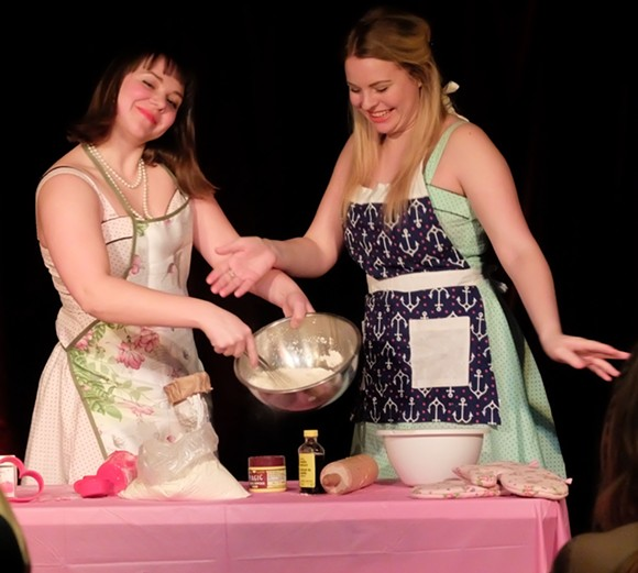 Lauren Cauchy, left, and Amanda Logan in 'Chocolate Cake'