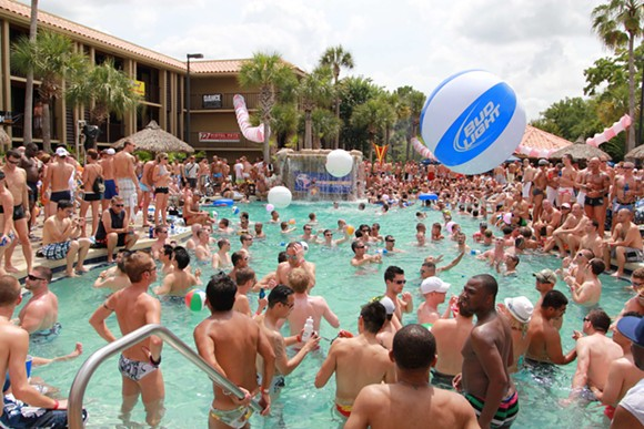 Gay Days Pool Parties, Wednesday-Sunday at the DoubleTree by Hilton at SeaWorld - VIA GAYDAYS.COM
