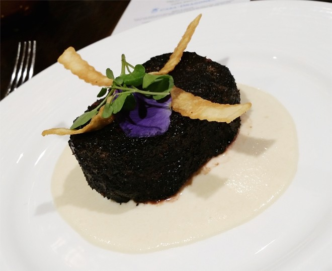 Ash-crusted filet, cojita cheese sauce - PHOTO BY FAIYAZ KARA