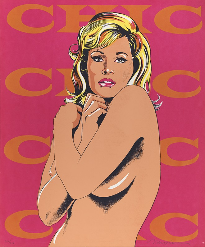 "MEL RAMOS, SCREENPRINT, ""CHIC,"" FROM THE PORTFOLIO ""11 POP ARTISTS, VOLUME I"" (1965). SMITHSONIAN AMERICAN ART MUSEUM, GIFT OF PHILIP MORRIS INCORPORATED. © MEL RAMOS, LICENSED BY VAGA, NEW YORK"