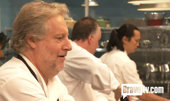 (From L-R): Jonathan Waxman, Tony Mantuano and Susur Lee on Top Chef Masters - BRAVO TV
