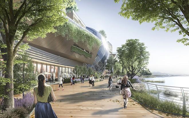 The waterfront entertainment complex planned for Resorts World Sentosa - PHOTO VIA RESORTS WORLD SENTOSA SINGAPORE