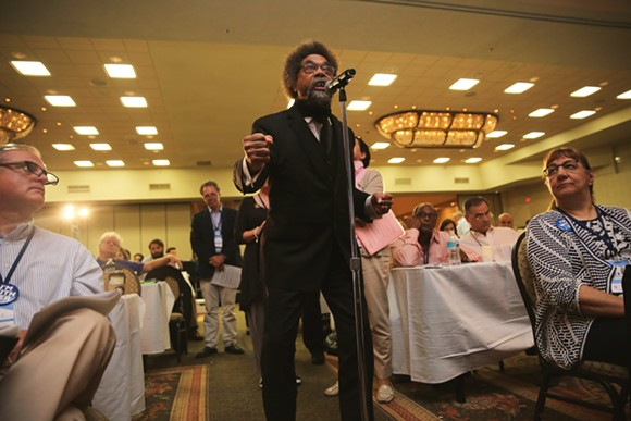 Cornel West, above. - PHOTO BY JOEY ROULETTE