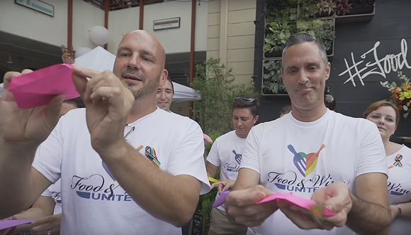 Fonzo and McFadden release butterflies to memorialize the 49 Pulse victims