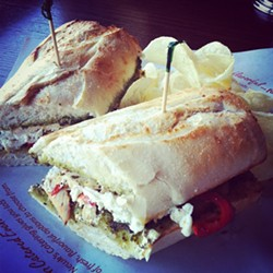 Pesto chicken sandwich. - PHOTO COURTESY NEWK'S ON FACEBOOK