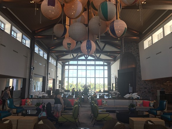 Sapphire Falls' main lobby is impressive in size, but a bit bland.