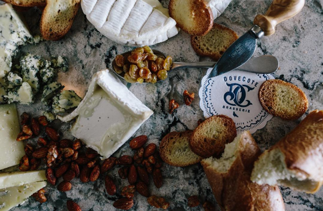 A selection of cheeses at Dovecote - PHOTO VIA DOVECOTE ON INSTAGRAM