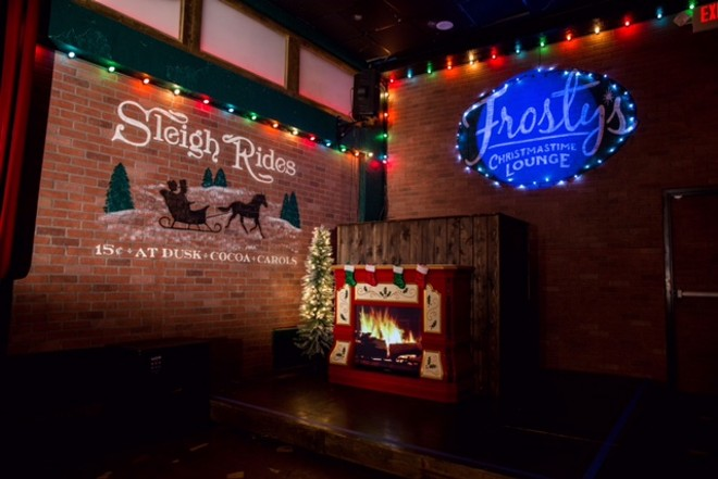PHOTO VIA FROSTY'S CHRISTMASTIME LOUNGE