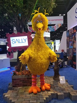 The fully interactive, life-size Big Bird animatronic by Sally Corp - PHOTO BY KEN STOREY