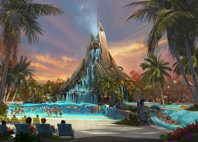 The yet to open Volcano Bay - PHOTO VIA UNIVERSAL