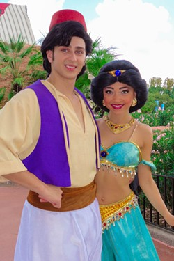 Aladdin and Jasmine at an Epcot meet-and-greet in 2012 - PHOTO VIA KENNYTHEPIRATE.COM