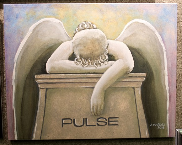 """Angel of Grief for Pulse"" by Valerie Marozzi - PHOTO BY MONIVETTE CORDEIRO"