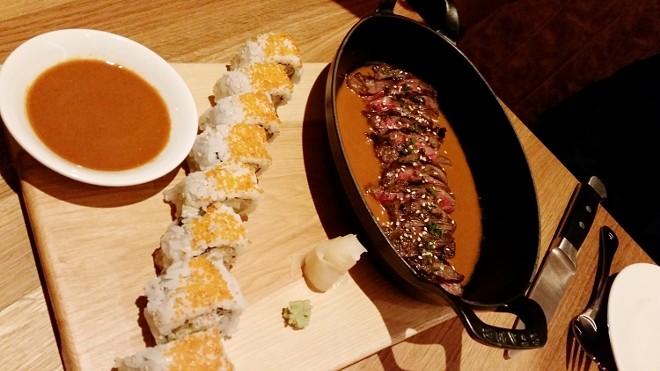 Steak + sushi