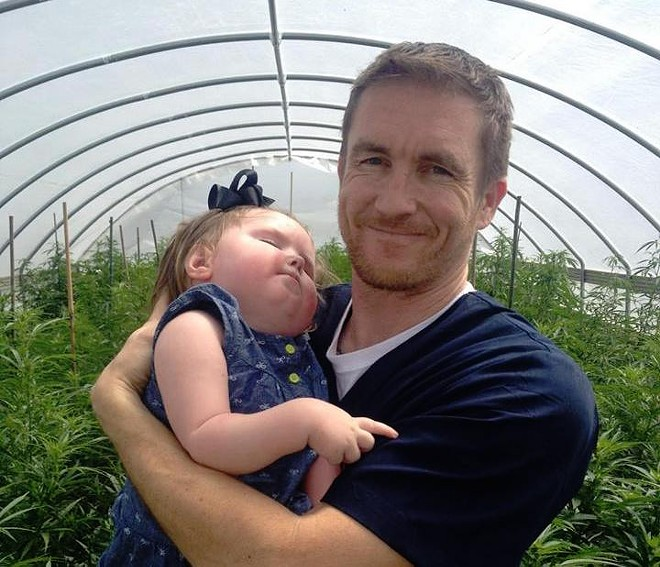 Jason Cranford of Flowering Hope Foundation, which developed the Haleigh's Hope strain - IMAGE VIA HALEIGH'S HOPE ON FACEBOOK