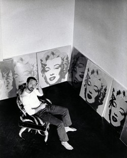 Poole with his collection of Warhol Marilyns. - PHOTO COURTESY OF JIM TUSHINSKI