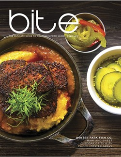 ORLANDO WEEKLY'S ANNUAL BITE MAGAZINE LAUNCHED IN SPRING 2001.
