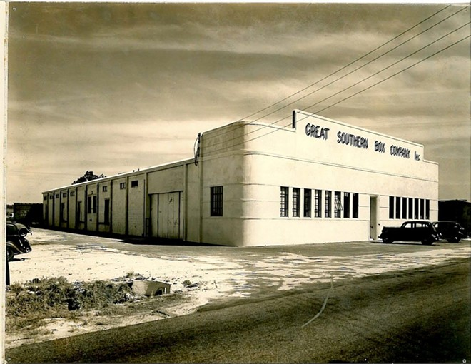 The Great Southern Box Company building dates back to the 1930s. - IMAGE VIA DAP DESIGN