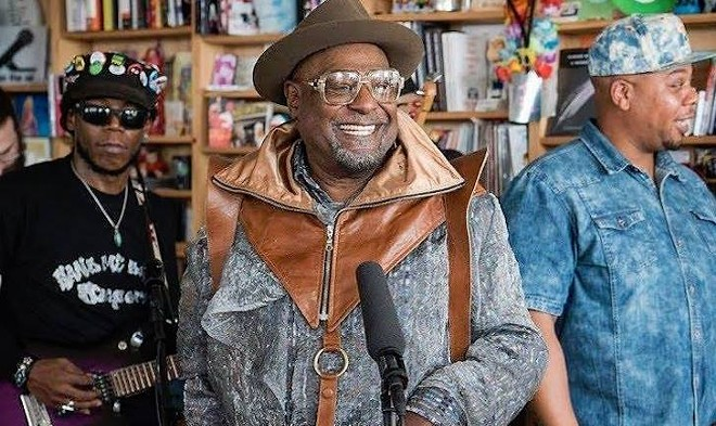 George Clinton & Parliament-Funkadelic playing NPR's Tiny Desk - PHOTO VIA GEORGE CLINTON/FACEBOOK