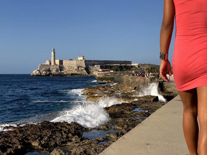 A view of Havana's seawall, El Malecón, toward El Morro fort - PHOTO BY ROB BARTLETT