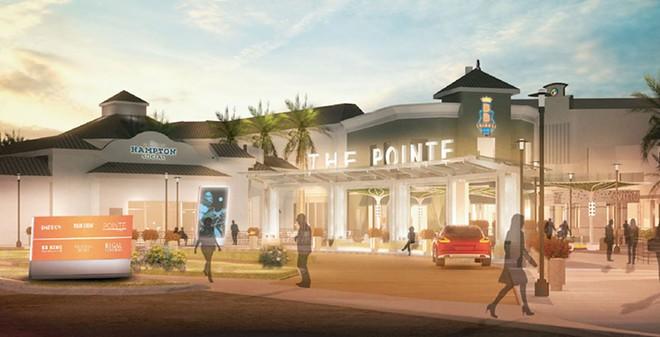The valet area near Capital Grille and Hampton Social - IMAGE VIA POINTE ORLANDO