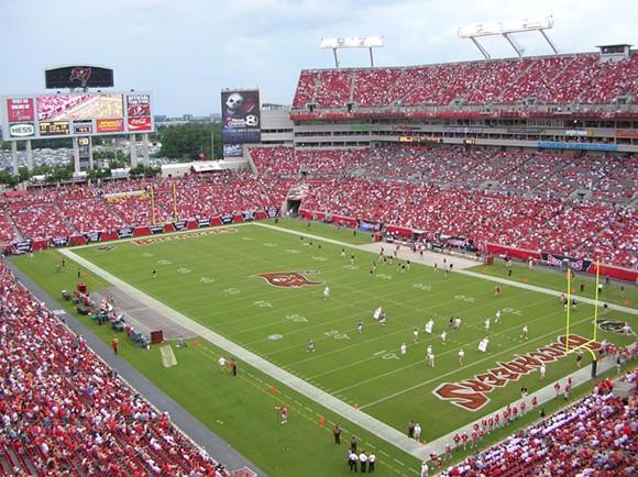 Raymond James Stadium in Tampa - PHOTO BY BERNARD GAGNON VIA WIKIMEDIA COMMONS