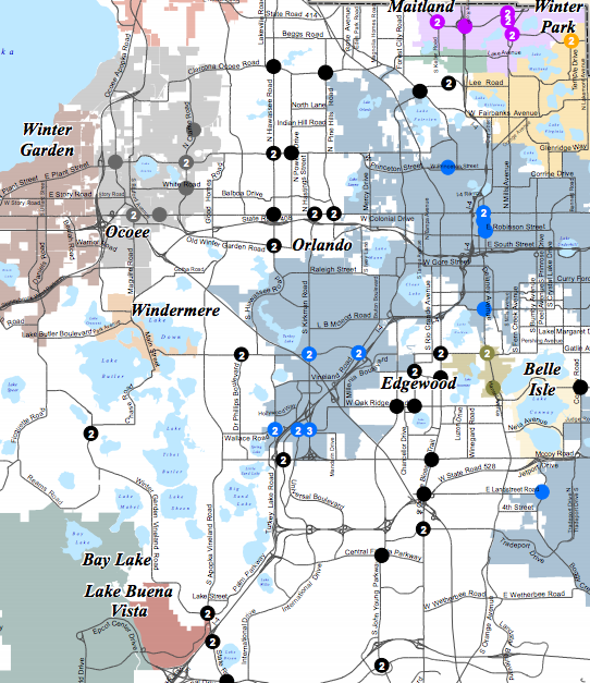 Orlando Metro Map.Florida Intersections With Red Light Cameras Have More Collisions