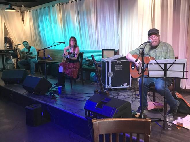Patrick Hagerman, Hannah Harber and Will Quinlan at the Circle - BAO LE-HUU