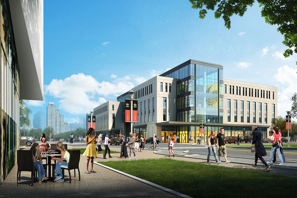 A proposed rendering of the Dr. Phillips Commons - IMAGE COURTESY UCF