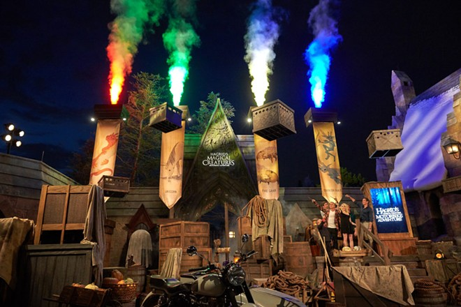 The opening celebration of Hagrid's Magical Creatures Motorbike Adventure in the Wizarding World of Harry Potter at Universal Studios Orlando - PHOTO VIA UNIVERSAL STUDIOS ORLANDO
