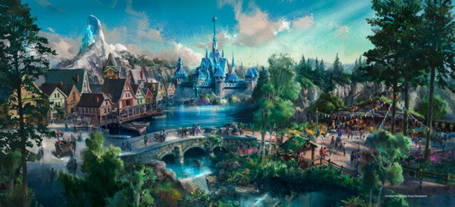 A Frozen themed land slated for Hong Kong Disneyland - IMAGE VIA DISNEY PARKS BLOG