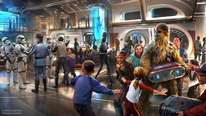 A scene on board the Star Wars: Galactic Starcruiser - IMAGE VIA DISNEY