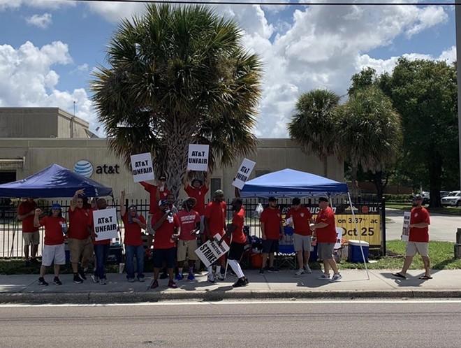 Strikers at 1501 S .Semoran Blvd in Orlando. - COURTESY OF LOCAL 3108