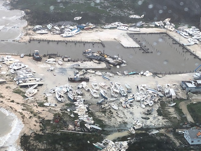Photo of Hurricane Dorian destruction in the Bahamas taken September 2, 2019 - PHOTO VIA UNITED STATES COAST GUARD / WIKIMEDIA COMMONS