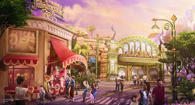 Shanghai Disneyland's upcoming Zootopia themed mini-land - IMAGE VIA DISNEY