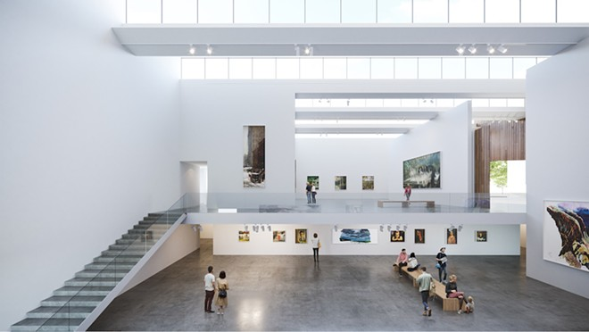 SITE RENDERINGS COURTESY FRIENDS OF MENNELLO MUSEUM OF AMERICAN ART