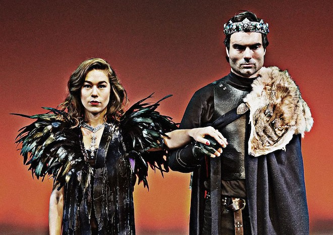Christian Ryan and Lucy Lavely in Macbeth - PHOTO BY CHRISTIAN KNIGHTLY