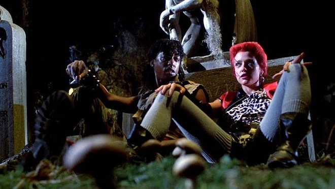 Miguel Nunez and Linnea Quigley in Return of the Living Dead - IMAGE COURTESY MGM HOME ENTERTAINMENT