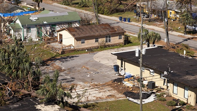 PHOTO OF HURRICANE MICHAEL DAMAGE IN PANAMA CITY, AS SEEN OCT. 21, 2018, VIA WIKIMEDIA COMMONS