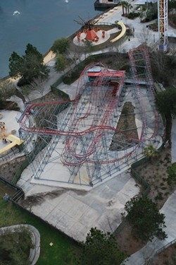 The new Fun Spot coaster when it was still in operation at Wild Adventures Theme Park - IMAGE VIA WILD ADVENTURES THEME PARK/FACEBOOK