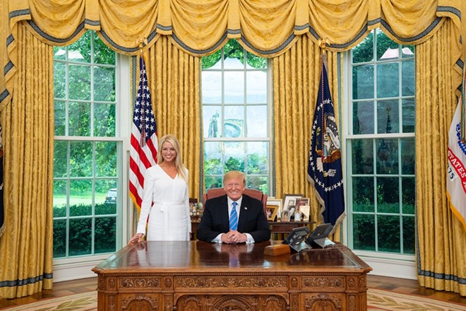 Pam Bondi in the Oval Office. - PAM BONDI TWITTER @PAMBONDI