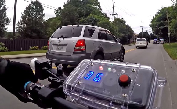 Police in Chattanooga, TN, routinely monitor passing cars for excessive speed. - SCREENSHOT VIA CHATTANOOGA POLICE/YOUTUBE